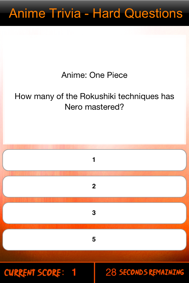 Screenshot Anime Trivia